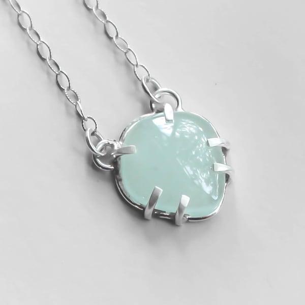 Aquamarine Gemstone Necklace Art | Texas MerMade