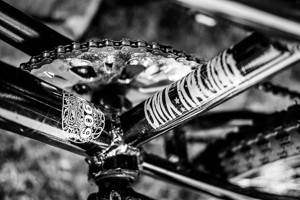 Closeup Of Bike Frame And Gears B&W Photography Art | Julie Williams Fine Art Photography
