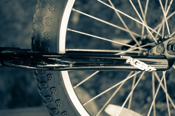 Closeup Bike Tire Sepia Photography Art | Julie Williams Fine Art Photography