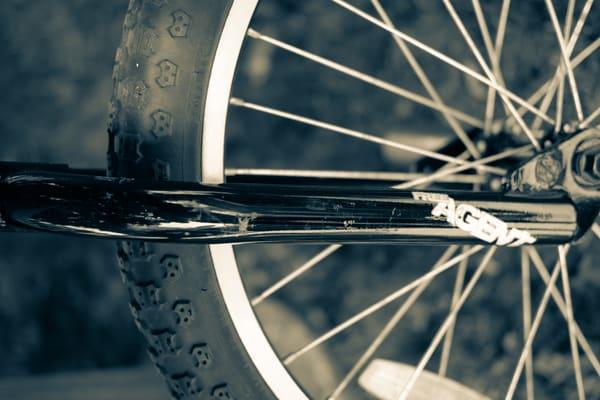Closeup Bike Tire Sepia Photography Art | Julie Williams Fine Art Photography