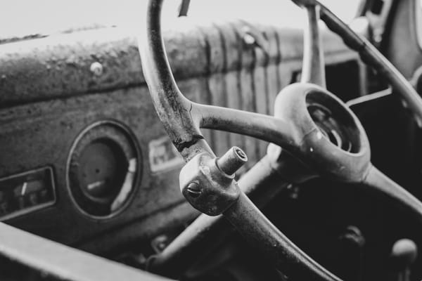Rusted Round Steering Wheel Photography Art | Julie Williams Fine Art Photography