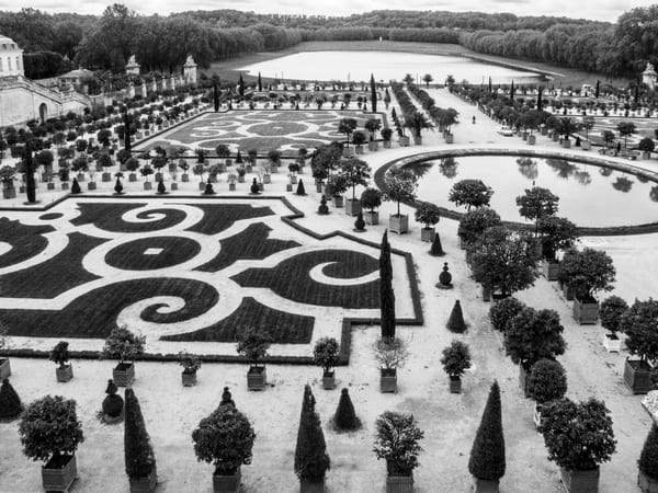 Versailles Gardens And Fountains B&W Photography Art | Julie Williams Fine Art Photography