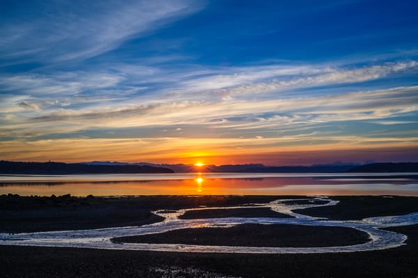 August Sunrise, Penn Cove, Washington, 2016