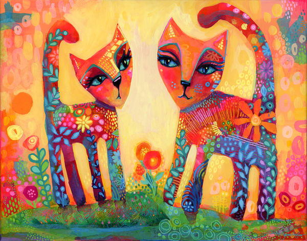 Forever Friends, Original Painting Art | Jessica Hughes Fine Art