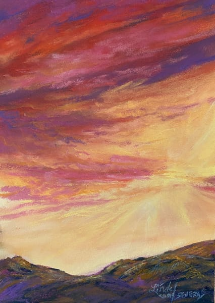 Lindy Cook Severns Art | Escape of the Renegade Sun, original pastel