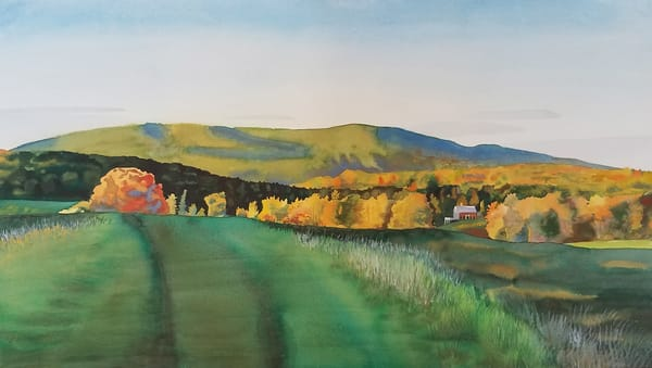 Vermont Hills In Autumn Art | Machalarts Watercolor Studio