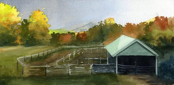 Taraden Autumn Evening Study Art | Machalarts Watercolor Studio