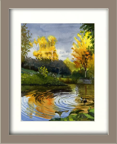 Autumn Evening Light At Taraden Art | Machalarts Watercolor Studio