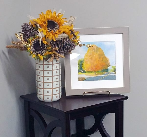 Fall Maple Art | Machalarts Watercolor Studio