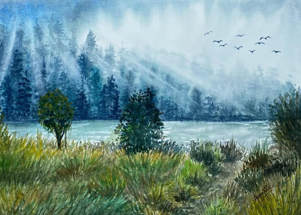 """A New Beginning"" in Watercolors by Aprajita Lal"