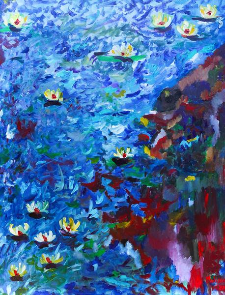 Melissa Ayr - Original Painting - Artwork - Garden Side