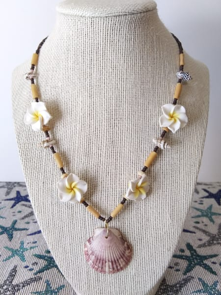 Sunset Scallop Shell Necklace