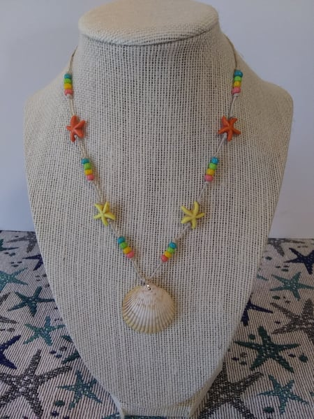 Starfish Scallop Shell Necklace