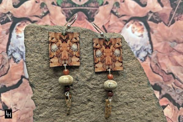 Mirror 786 No. 1 Earrings | Loree Harrell Art