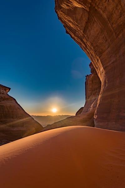 Wadi rum sunset dune