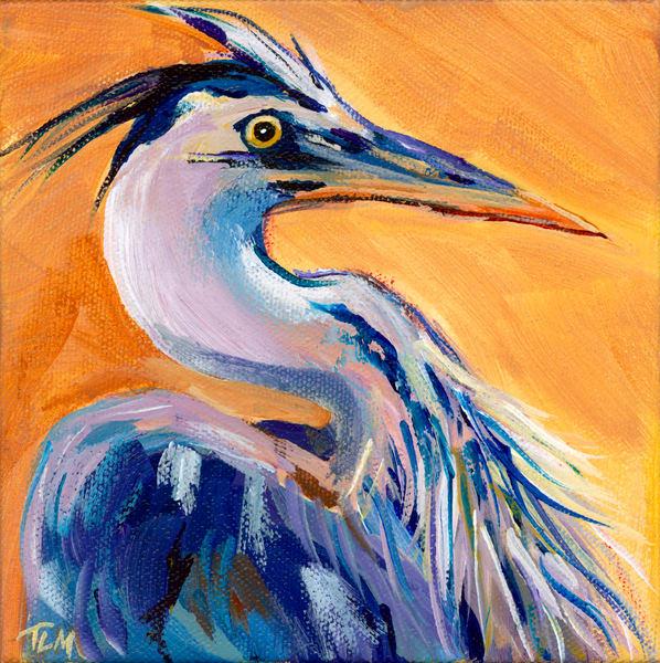 Colorful Heron - Terry MacDonald