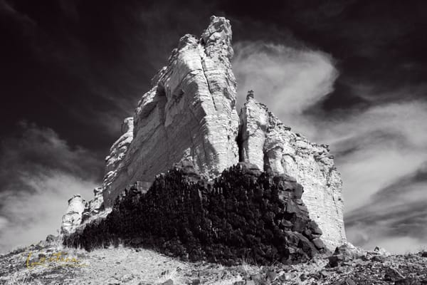 Guadalupe Ruins (BW)  - A Fine Art Photograph by Marcos R. Quintana