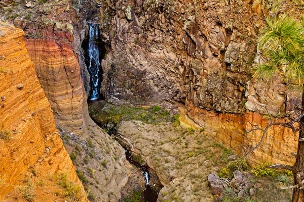 Upper Frijoles Falls II - A Fine Art Photograph by Marcos R. Quintana
