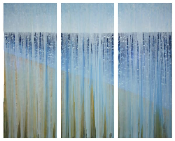Rained Out Beach Day Triptych   Original Oil Painting By Rachel Brask Art | Rachel Brask Studio, LLC