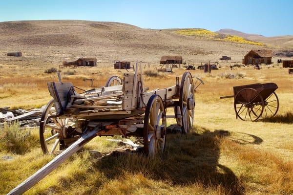 """Wagon in a Ghost Town"" print   Jim Parkin Fine Art Photography"