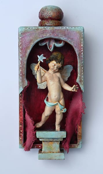 "Assemblage art by Karen Rexrode, ""The Good Dream Pixie"""