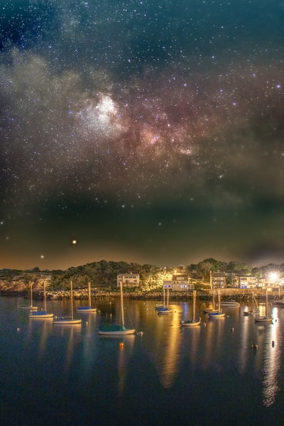 Milky Way Over Rockport Harbor Art | capeanngiclee