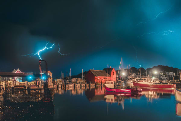 Lightning Over Motif Art | capeanngiclee