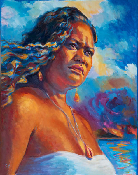 Isa Maria paintings, prints - Hawaii goddess portraits - Ea, Spirit of Sovereignty