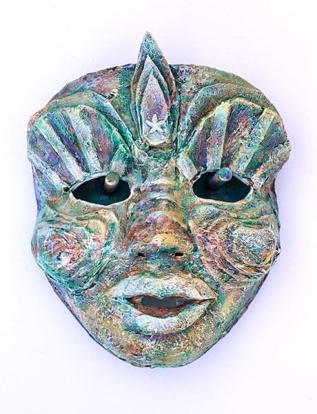 a mask titled Deep Sea Treasure by Karen Rexrode
