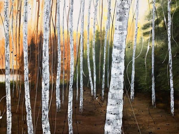 Birches By The River Art   Julie Berthelot