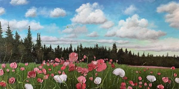 Field Of Flowers Art   Julie Berthelot