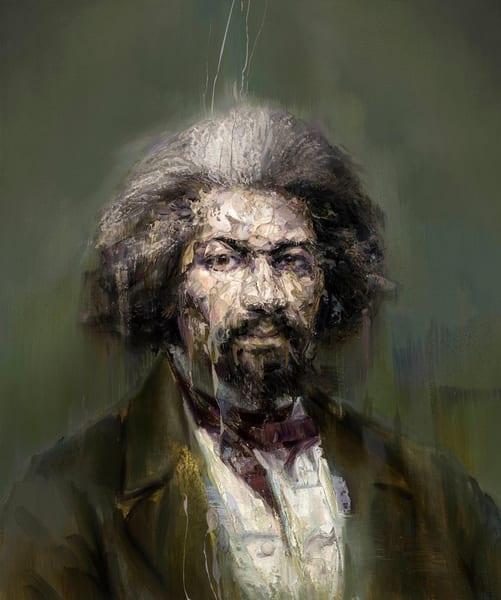 Frederick Douglass (Oil On Print) Art | Mathieu Laca