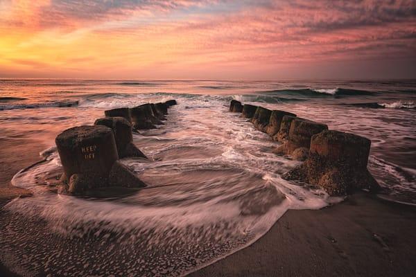 Swirling Jetty Surf Photography Art   nancyney