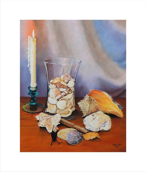 Shells, Vase And Candle Art | Greg Stett Art