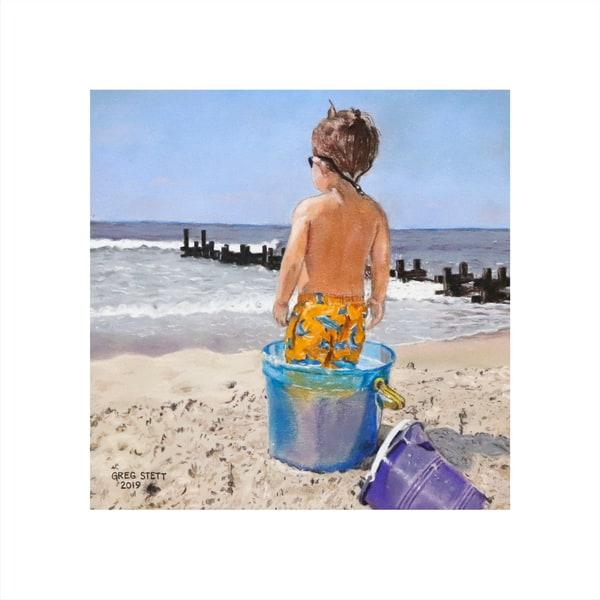Beach Tot #2   Inpailed Boy Art | Greg Stett Art