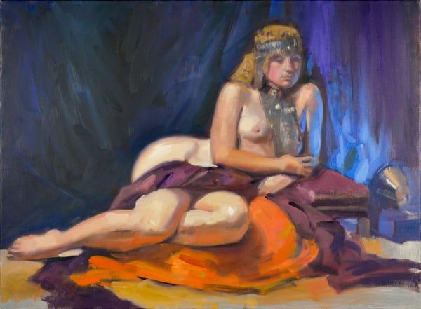 Figure Study (Emerald) (Original) Art   Adam Benet Shaw Studios