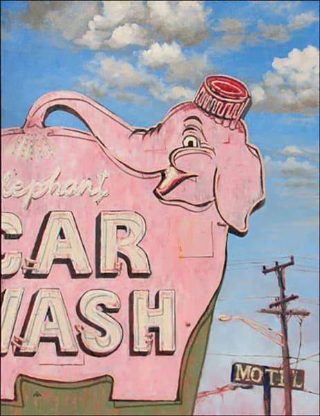 Elephant Car Wash Art | Fountainhead Gallery