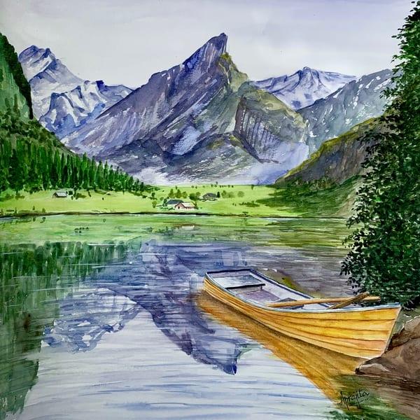 """""""Yellow Boat"""" in watercolors by Aprajita Lal"""