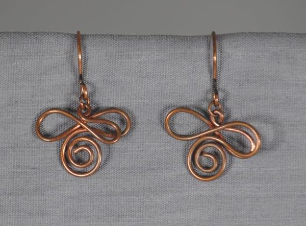 MaryAnn Swinney - handcrafted jewelry - earrings - Copper Signature Swirl Earrings
