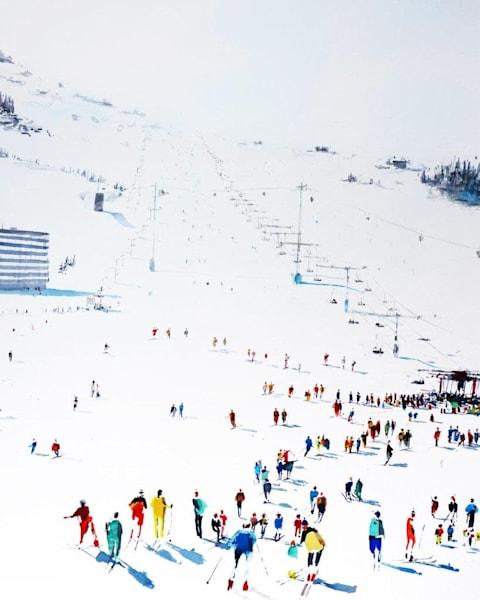 Skiing 1   Limited Edition Signed Print Art   Steven Dragan Fine Art