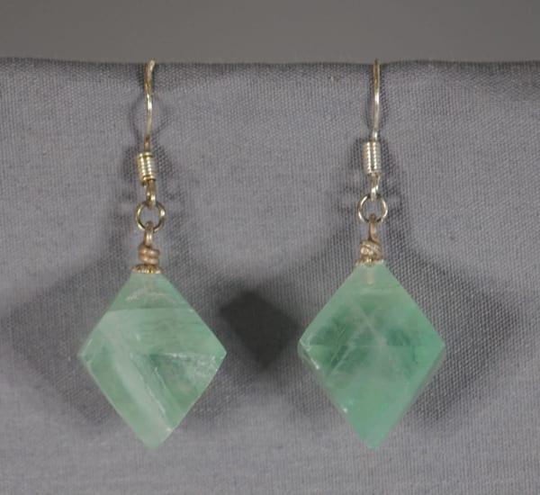 MaryAnn Swinney - handcrafted jewelry - earrings - Diamond Shaped Green Flourite Earrings