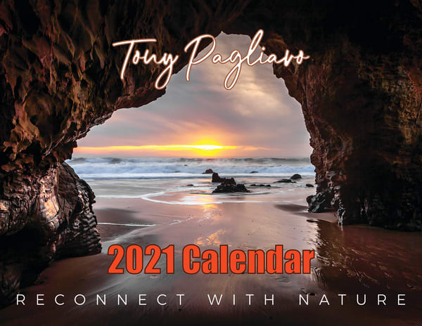 (3 Pack)  2021 Reconnect With Nature   Fine Art Photography Calendar | Tony Pagliaro Gallery