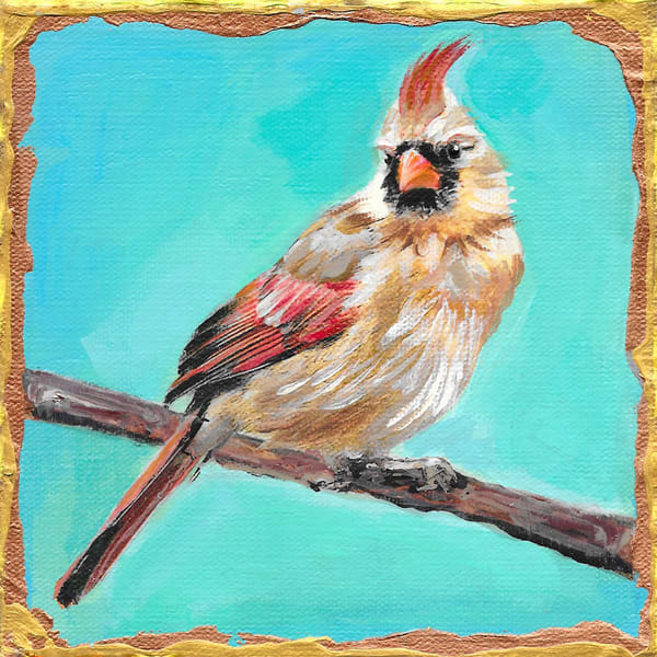 Female Cardinal Art | Channe Felton Fine Art