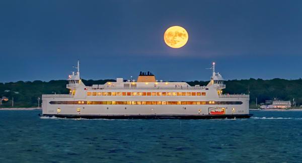 Steamship Ferry September Moon Art | Michael Blanchard Inspirational Photography - Crossroads Gallery