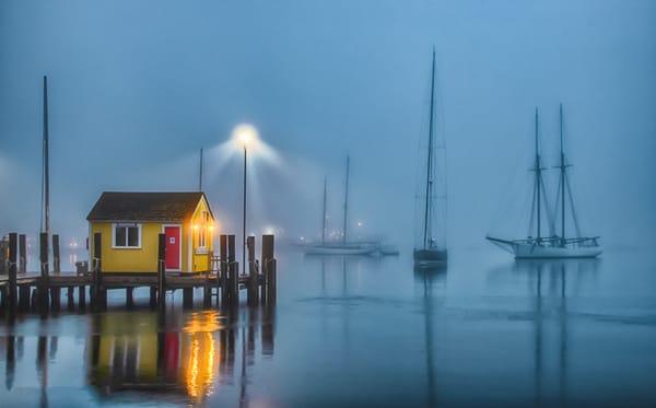 Tisbury Wharf Fog Art | Michael Blanchard Inspirational Photography - Crossroads Gallery