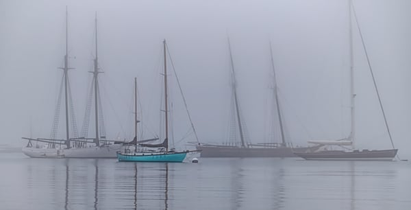 Vineyard Haven Harbor Turquoise Sail Boat Art | Michael Blanchard Inspirational Photography - Crossroads Gallery