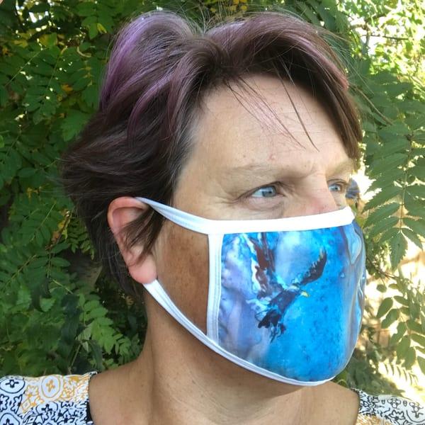 Sky Dancer Face Mask | Karen Bishop Artist