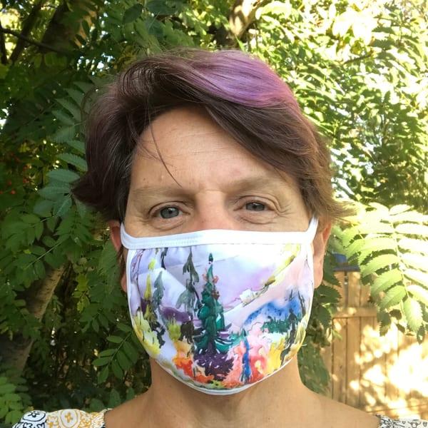 Talbot Lake Face Mask | Karen Bishop Artist