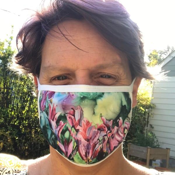 Shooting Stars Face Mask | Karen Bishop Artist