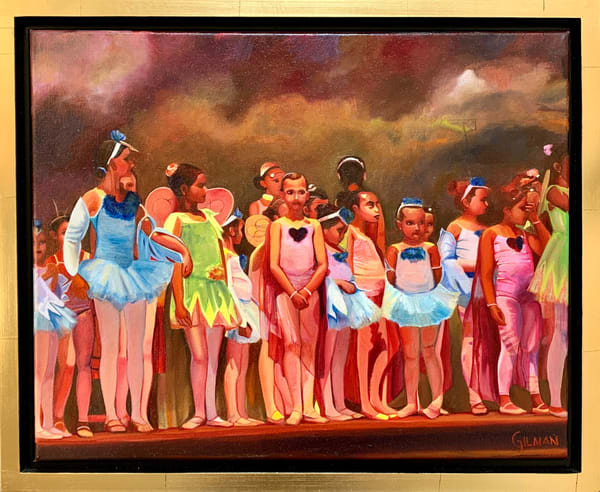 """Monet's Garden"" Ballet Rehearsal Original Oil on Canvas Painting"